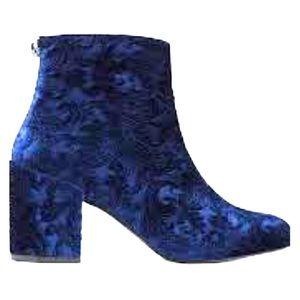 "Stuart Weitzman ""Bacari"" Embossed Velvet Boots"